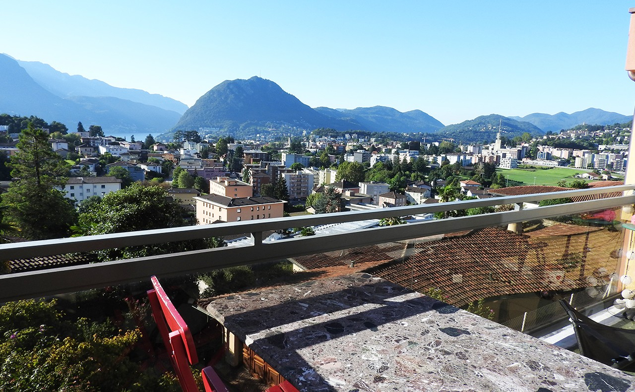 1 - Vista dal balcone